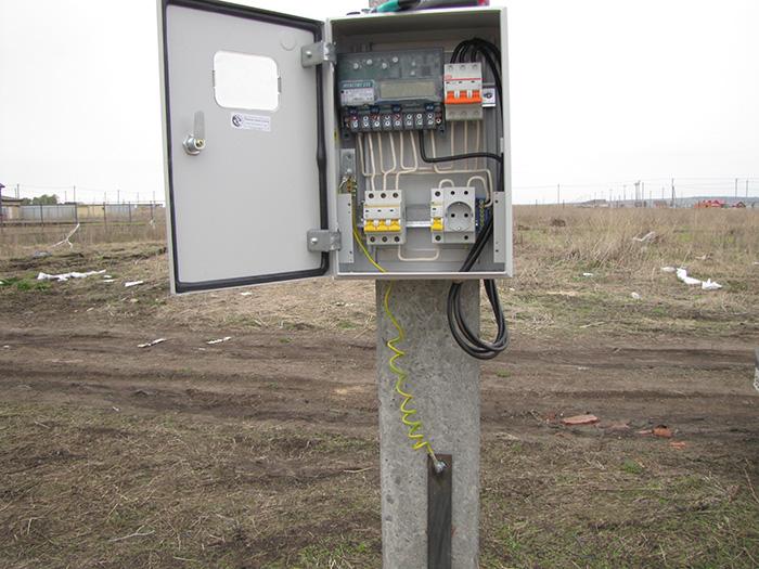 Щит учета электроэнергии уличный для трехфазного счетчика